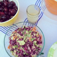 Creamy Cole Slaw Salad with Tahini Dressing